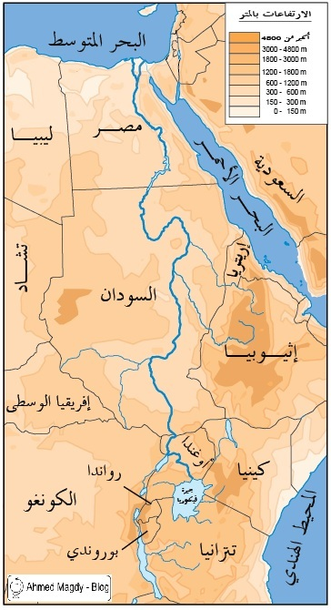 كم دولة يمر بها نهر النيل