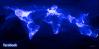 خريطة تظهر اتصال اصدقاء الفيس بوك حول العالم بواسطة  Paul Butler