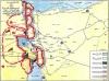 خريطة حرب اكتوبر: الاوضاع بعد الاقتحام والتسلل